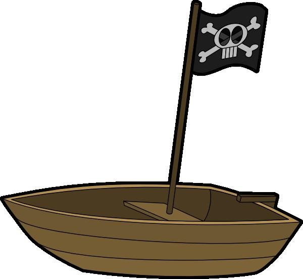 600x552 Pirate Flag Boat Clip Art