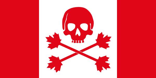 600x300 Pirate Flag Of Canada Clip Art Free Vector 4vector