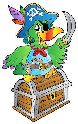 253x400 Pirate Treasure Chest Clipart