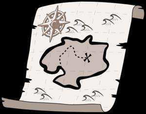 300x234 Treasure Map Clip Art