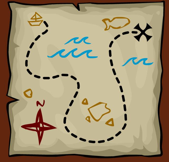 641x615 Best Treasure Map Clipart