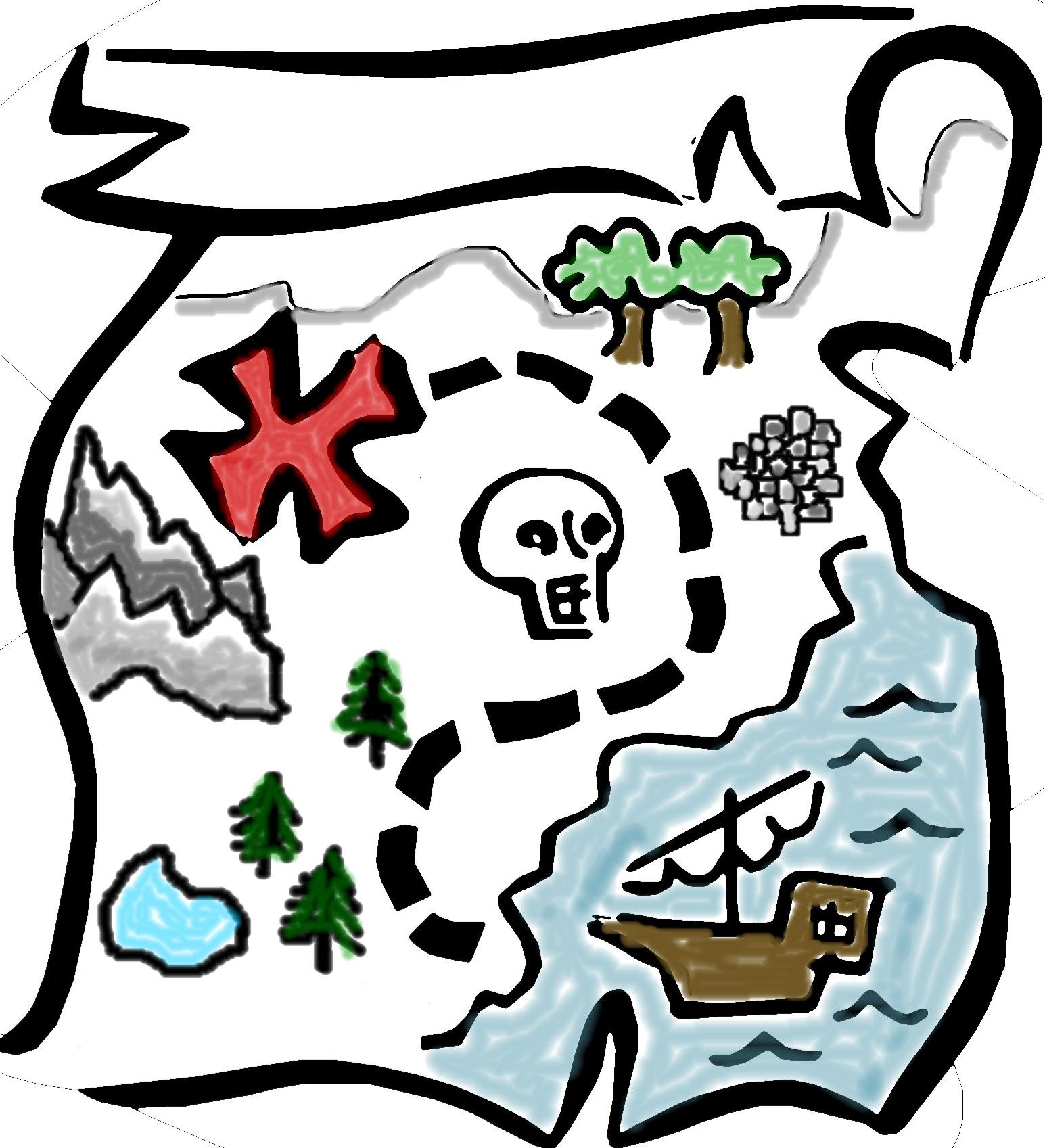 1545x1697 Unique Pirate Treasure Map Clipart Free Images Cdr