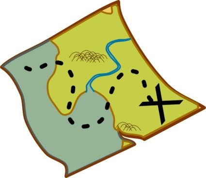 425x368 Free Download Of Treasure Map Vector Graphics And Illustrations