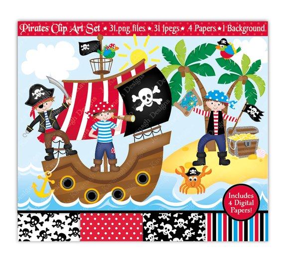 570x538 Pirate Clip Art Amp Digital Papers,pirate Clipart,pirates Clipart