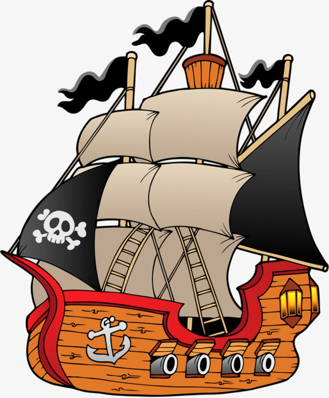 650x785 Pirate Ship, Hand Painted, Piece Png Image And Clipart For Free