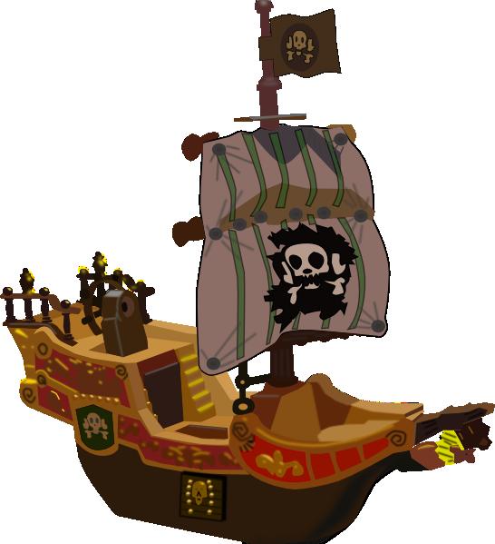 546x599 Pirate Ship Clip Art Free Vector 4vector