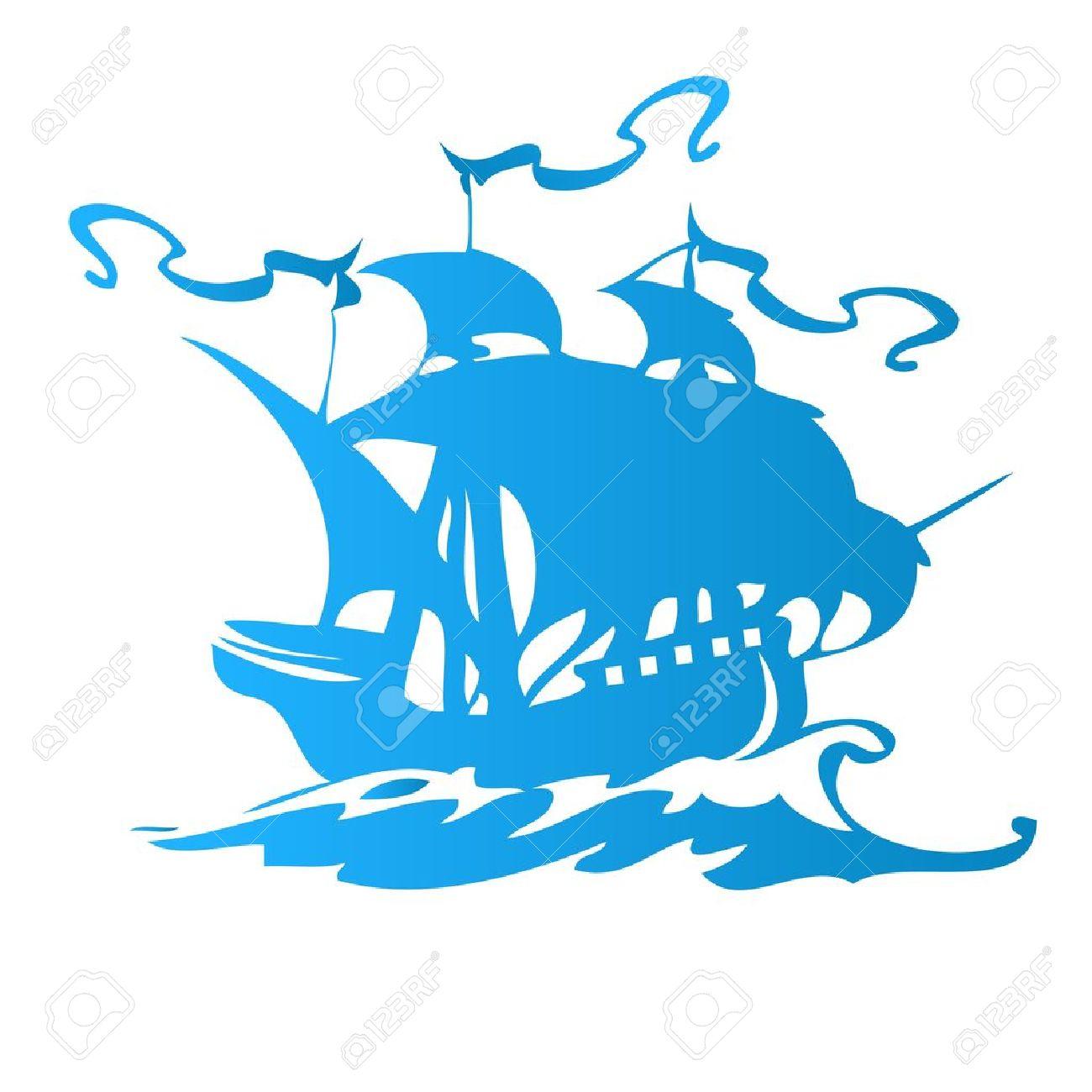 1300x1300 Sailing Ship Clipart Logo