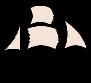 298x270 Black Pirate Ship Clip Art