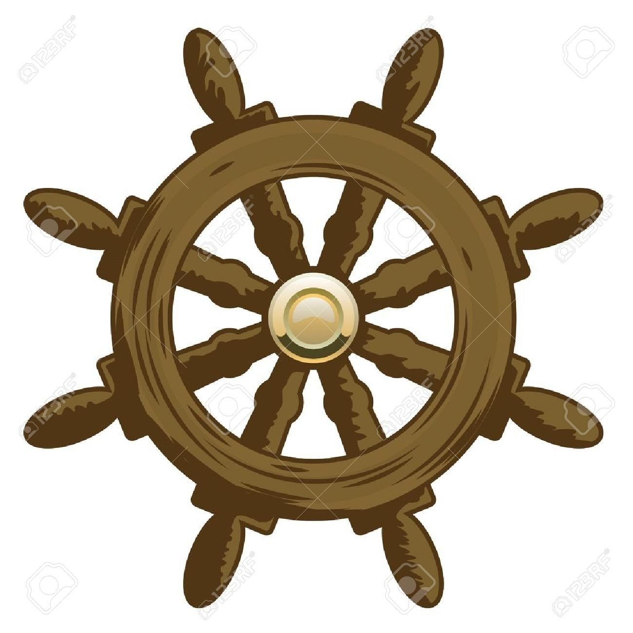 1300x1300 Ships Wheel Stock Vector Art More Images Of Cut Out 164102060