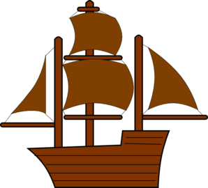 298x270 Brown Pirate Ship Clip Art