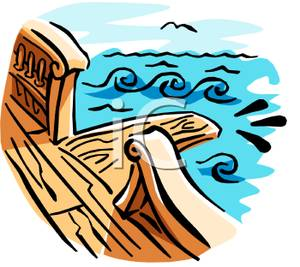 300x267 Clip Art Image A Plank On A Pirate Ship