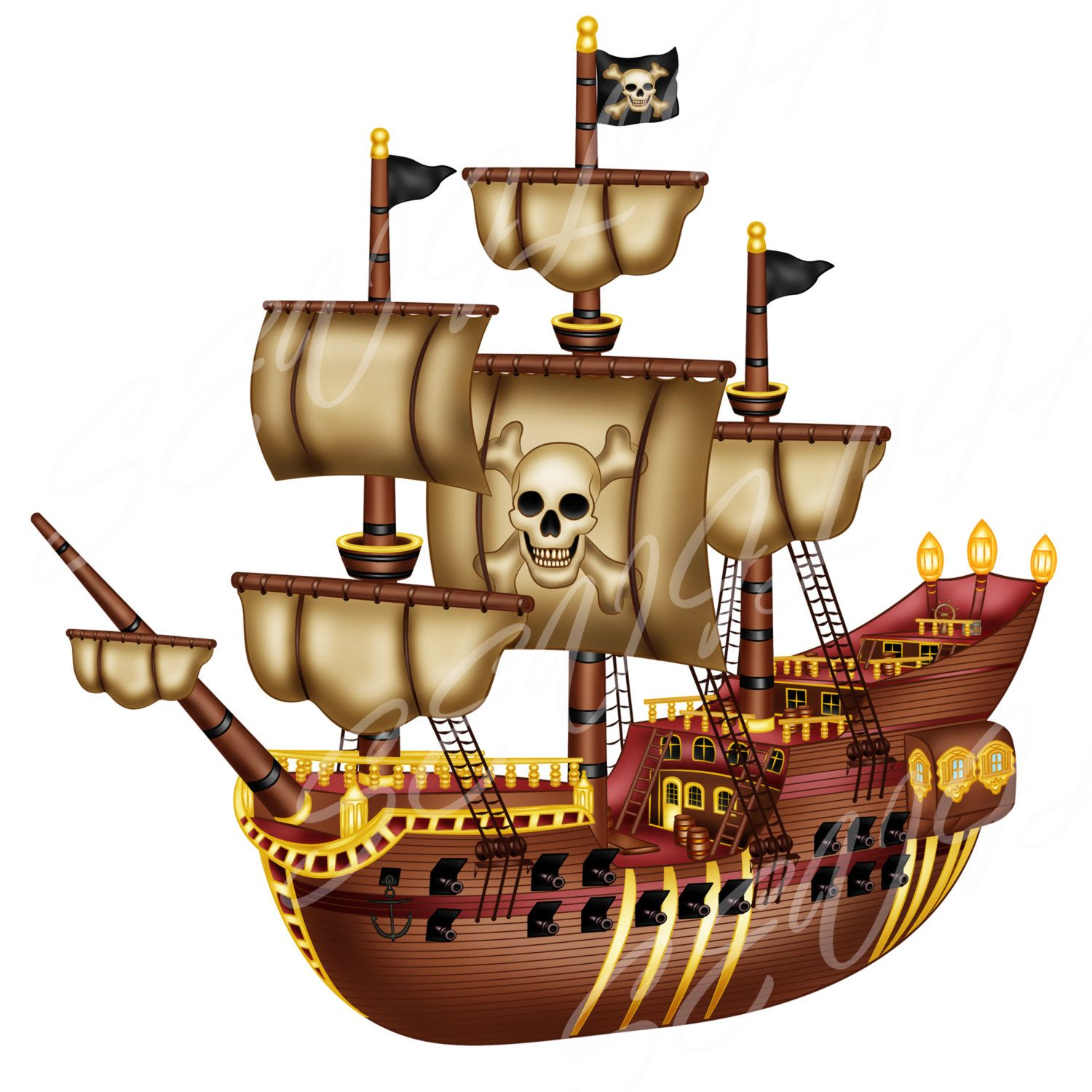 1500x1500 Buy 2 Get 2 Free, Pirate Clip Art,pirate Ship Clip Art Personal