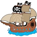 150x150 Pirate Ship Clip Art Pirate Ship Clipart Black And White Free