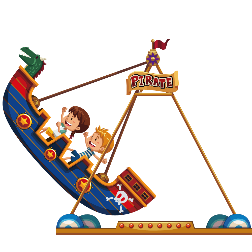 1000x1000 Pirate Ship Amusement Park Clip Art