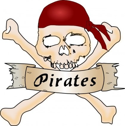 420x425 Free Calavera Pirata Clipart And Vector Graphics