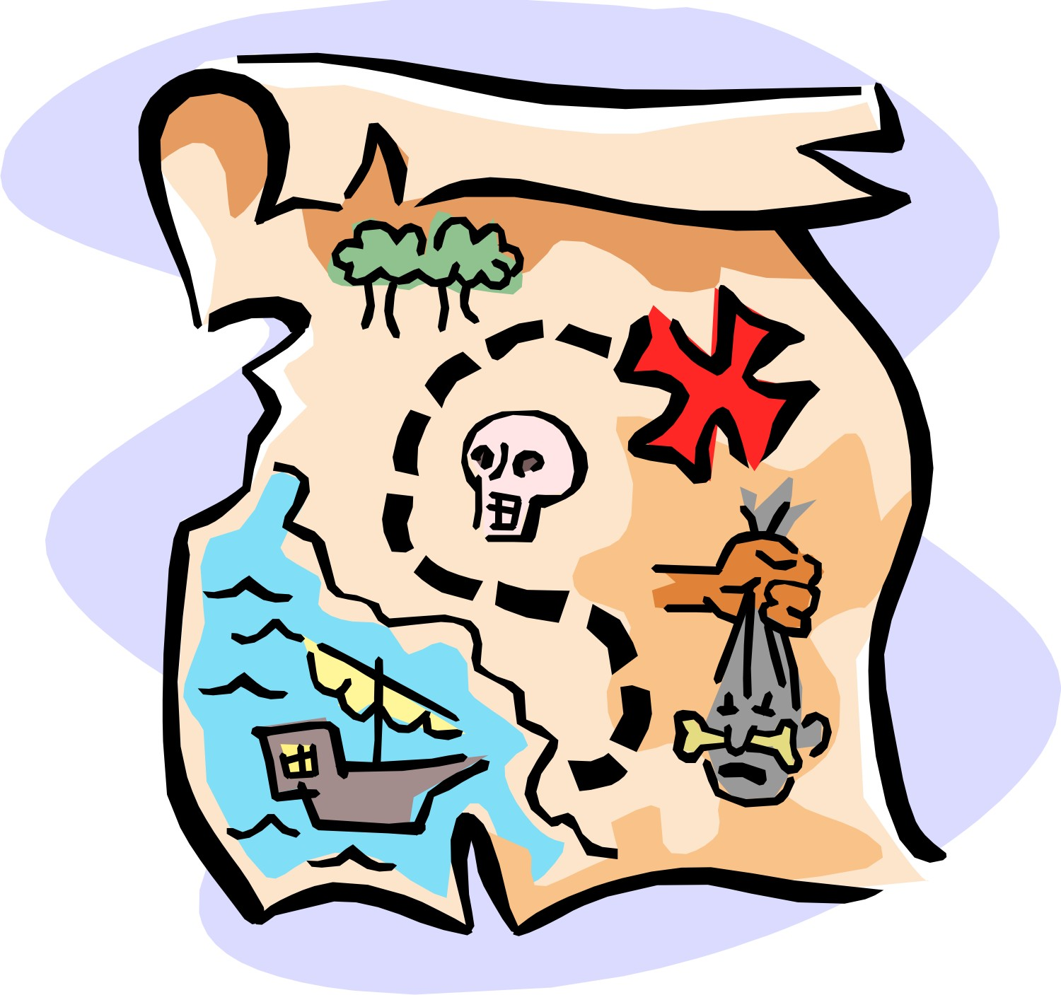 1500x1407 Collection Of Pirate Treasure Map Clipart High Quality, Free