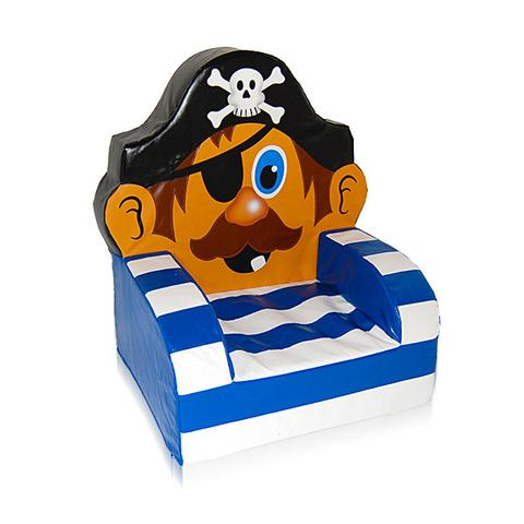 480x480 Pirate Themed Soft Play Chair The Soft Brick Company
