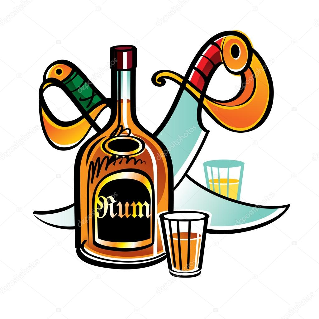 1024x1024 Rum Clipart Pirate