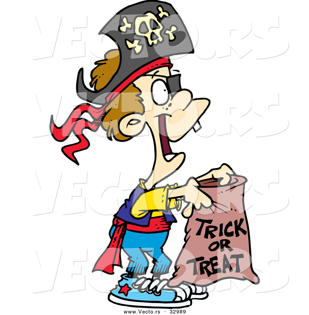 1024x1044 Vector Of A Trick Or Treating Cartoon Pirate Boy On Halloween By