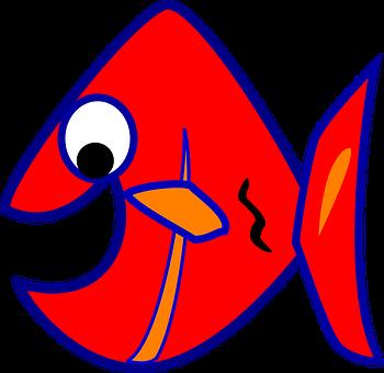 350x340 Piranha, Fish, Red, Orange Newcomers Clip Art