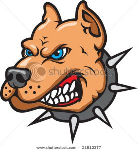 275x300 Dog Growling Clipart Aggressive Angry Pit Bull Dog Mascot Vector