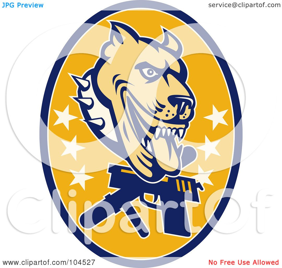 1080x1024 Royalty Free (Rf) Clipart Illustration Of A Guard Dog Pit Bull