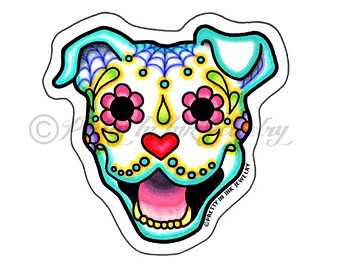 340x270 Pit Bull Clipart Skull