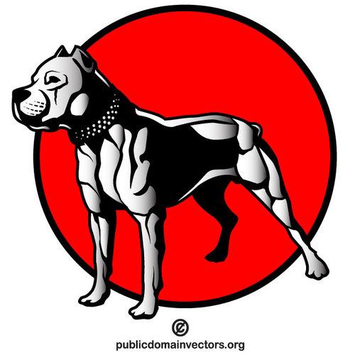 500x500 Pit Bull Dog Vector Clip Art Public Domain Vectors