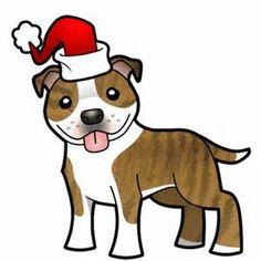 236x236 Cartoon Pitbull American Staffordshire Terrier Photo Cutout
