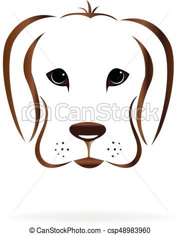 362x470 Dog Face Logo. Dog Face Golden Retriever Logo Vector Image Clip