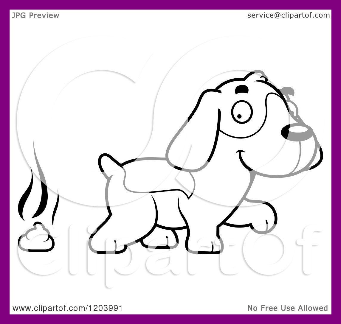 1144x1088 Amazing Black And White Dog Cartoon Stock Vector Illustration