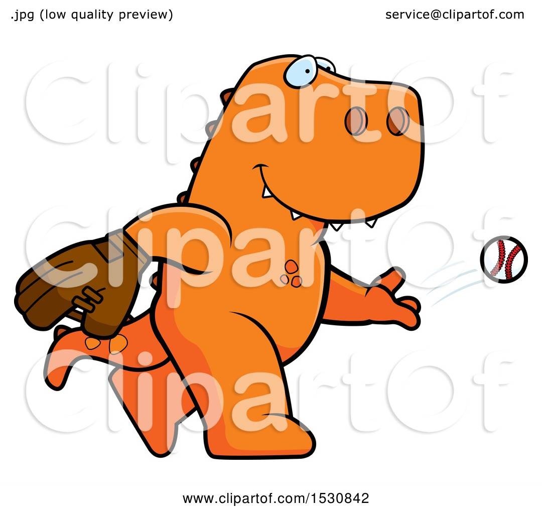 1080x1024 Clipart Of A Cartoon Tyrannosaurus Rex Dinosaur Baseball Pitcher