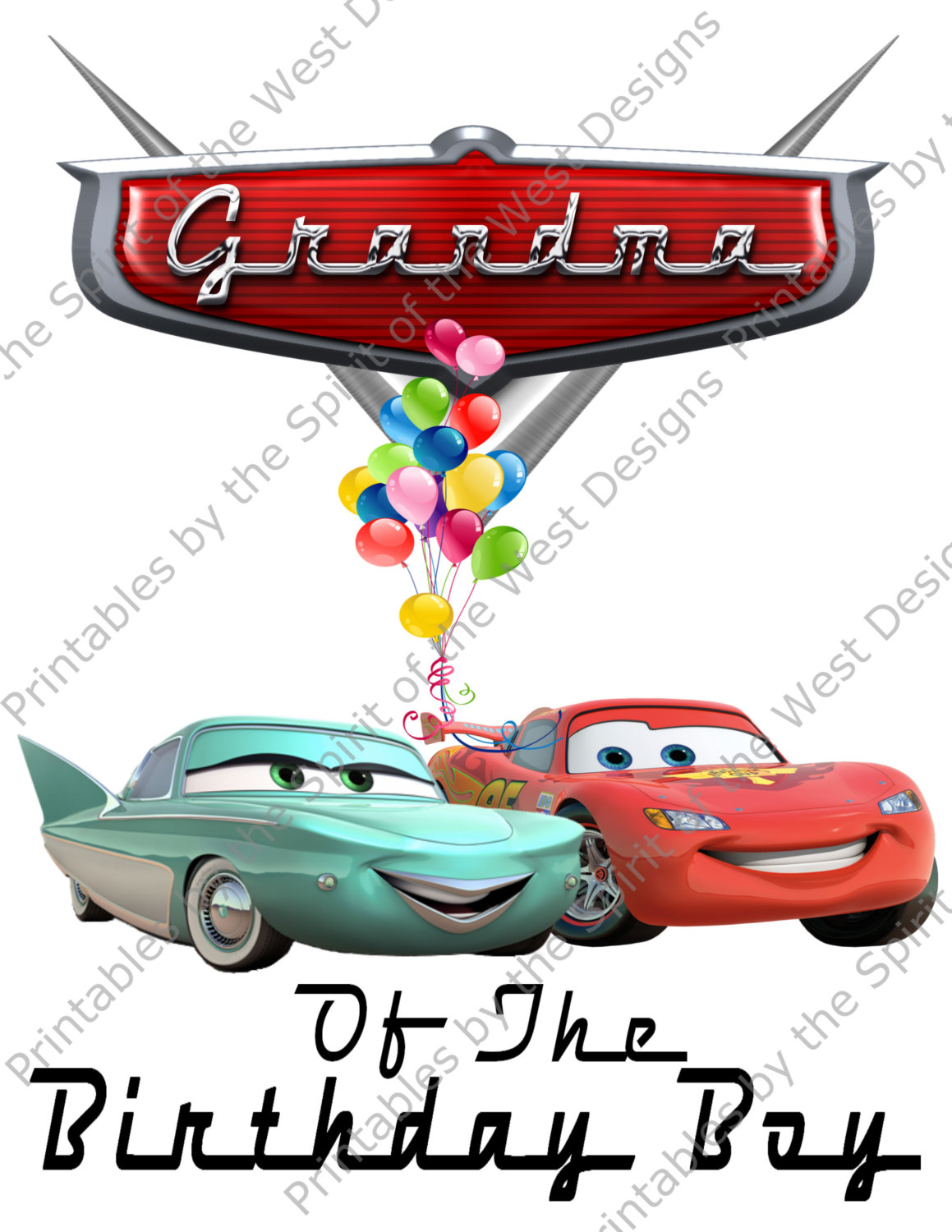 1159x1500 Grandma Of The Birthday Boy Iron On Lightning Mcqueen Flo Disney