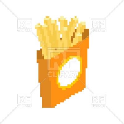 400x400 Fried Potatoes In Pixel Art Royalty Free Vector Clip Art Image