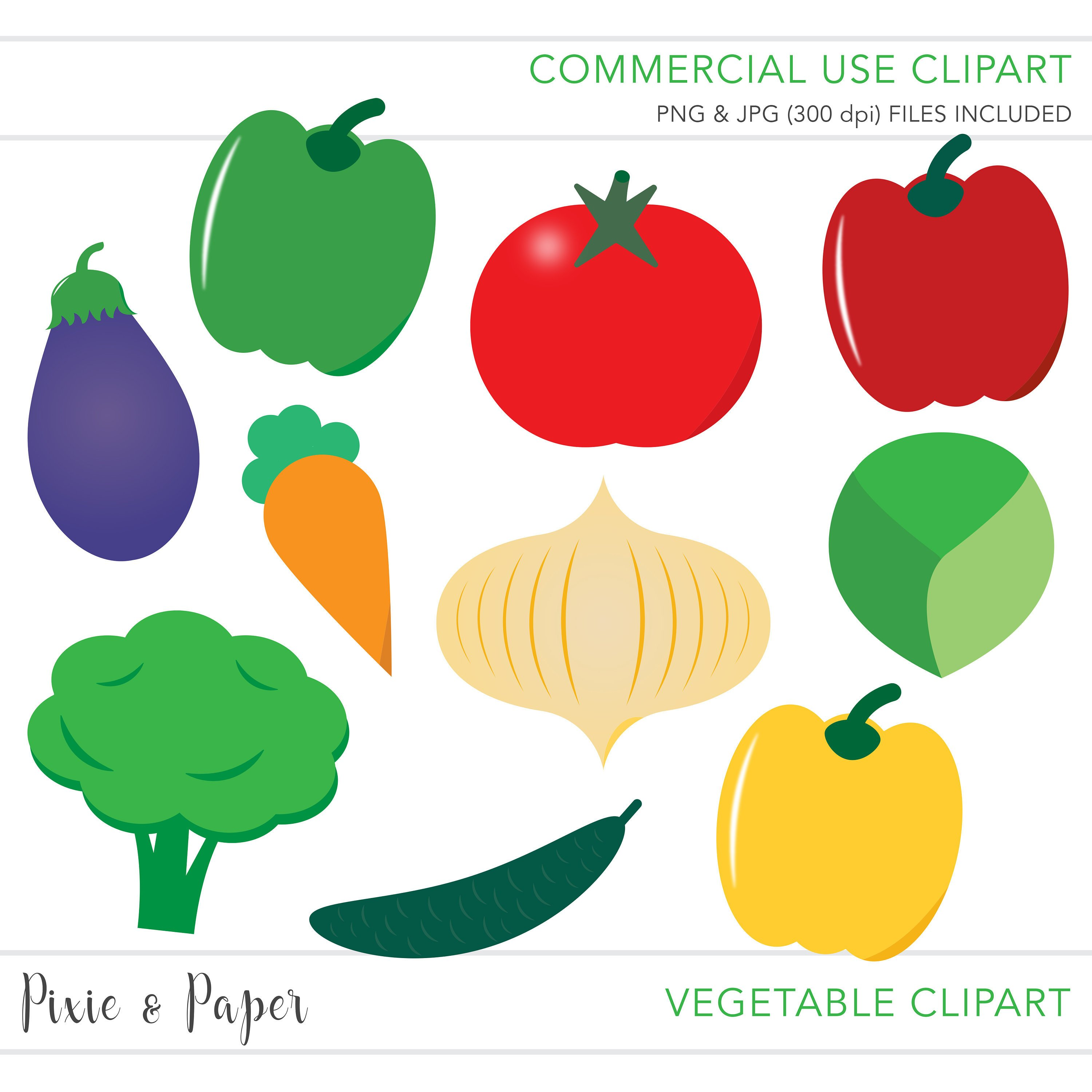 3000x3000 Commercial Use Clipart, Commercial Use Clip Art, Vegetable Clipart