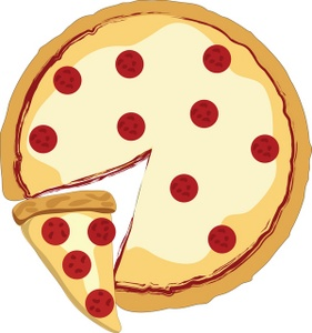 281x300 Pizza Clip Art Black And White Free Clipart Images