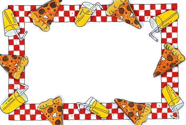 610x410 Clipart Pizza Party Pizza Clip Art Border Pizza Party Border