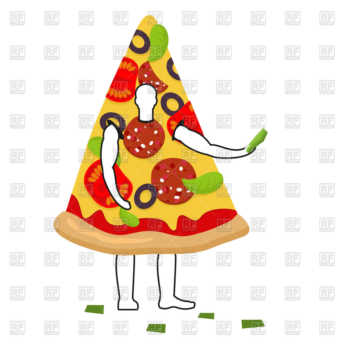 1200x1200 Pizza Man Mascot Promoter Royalty Free Vector Clip Art Image