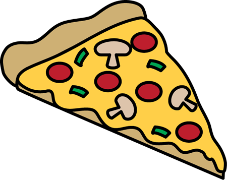 450x357 Deluxe Pizza Slice Clipart