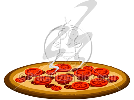432x324 Cartoon Pizza Clipart Picture Royalty Free Pizza Clip Art Licensing.