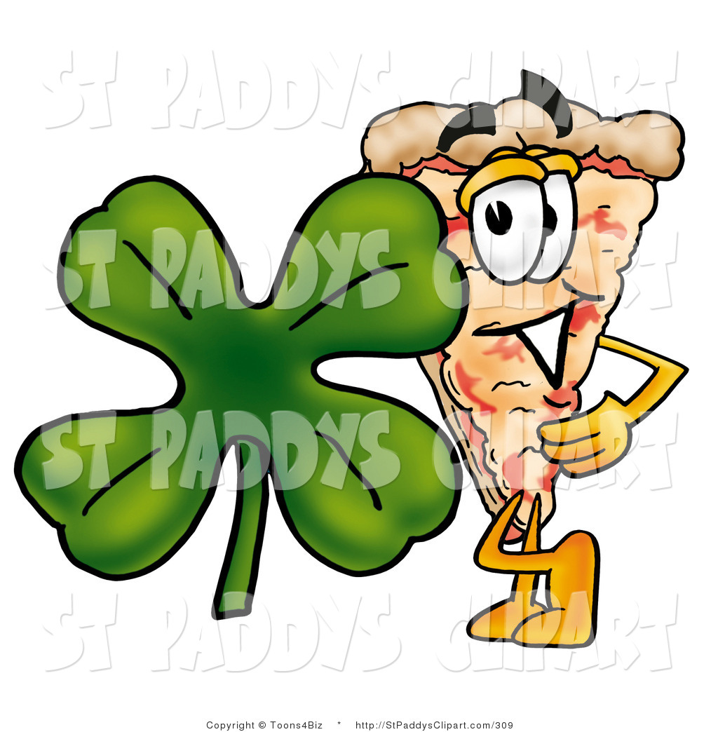 1024x1044 Cliprt Of St Patricks Day Slice Of Pizza Character