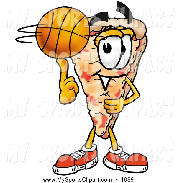 600x620 Sports Clip Art Of A Happy Slice Of Pizza Mascot Cartoon Character