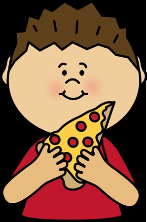 298x450 Boy Eating Pizza Clipart Clip Art Image