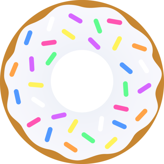 550x550 Vanilla Donut With Sprinkles