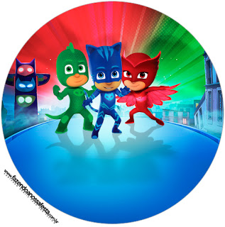 317x320 Pj Masks Free Printable Wrappers And Toppers For Cupcakes. Oh