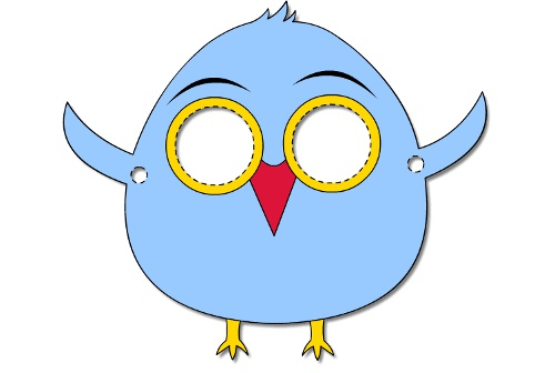 500x336 Collection Of Bird Mask Clipart High Quality, Free Cliparts