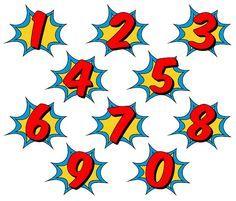 236x201 Superhero Clipart, Comic Book Clip Art, Comic Book Numbers