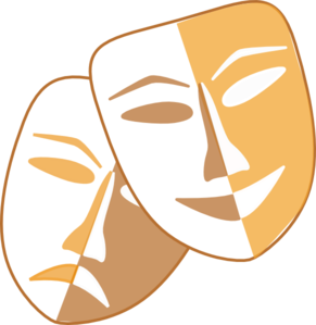 291x299 Collection Of Drama Masks Clipart Free High Quality, Free