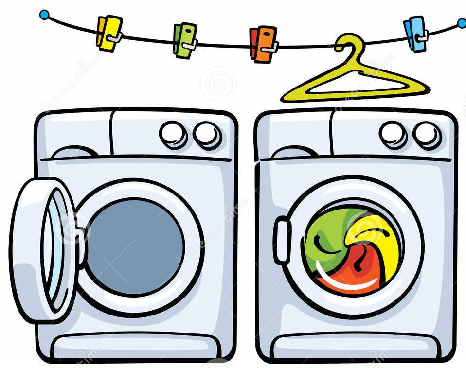 958x757 Dryer Machine Clipart