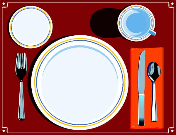 600x458 Place Setting Clip Art
